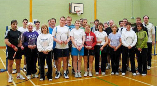 Clevedon Feathers Badminton Team 2012